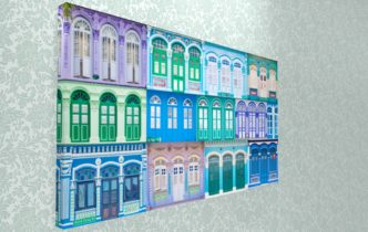 Singapore Shophouse Art